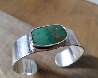 Sterling Silver and Chinese Turquoise Cuff