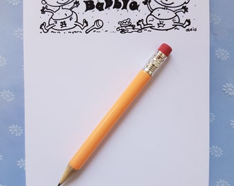 Baby A6 notepad, Babble babble A6 notepad, baby notepad, baby shower gift,