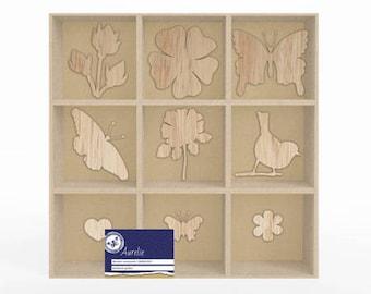 Wooden 10 x 10 cm_PGAUWO1001 botanical decoration