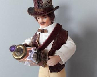 Barnaby Balsover, OOAK 1:12 scale steampunk gentleman