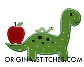 School Dinosaur Applique, Back to School Dinosaur, Dinosaur Applique, Pre-School Shirt, Back to School Applique