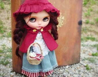 """Exclusive outfit for your Blythe dolls: """"Little Red Riding Hood"""""""