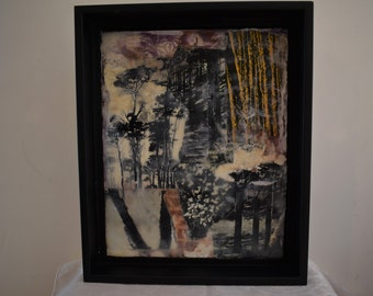 Trees  - Encaustic Collage