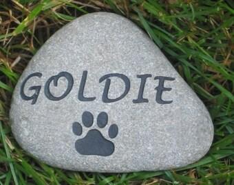 CUSTOM Pet Memorial Stone 3-4 Inches Memorial Pet Stone Grave Maker