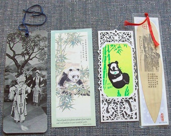 Four Vintage  Asian Themed  book marks.