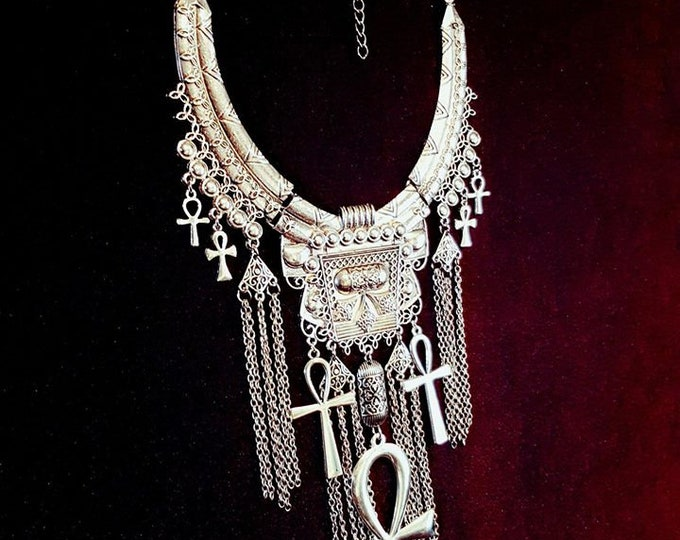 Eternal Life Necklace - occult egyptian ankh neckpiece goth gothic trad goth vampire immortality