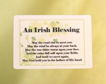 Irish Blessing Car Air Freshener
