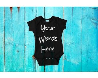 cheap birth announcement, Custom baby item, design a baby bodysuit, personalized baby bodysuit, Custom Gender announcement, custom clothing