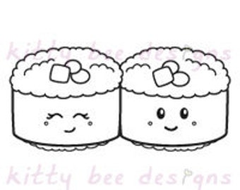 Sushi Buddies Digi Stamp