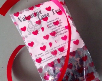 Lover's Valentine Black Tea Blend - chocolate, tea, rose