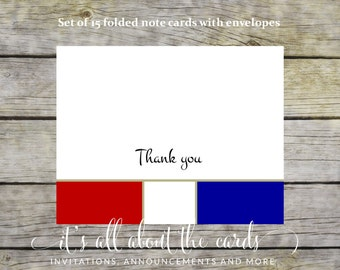 Prepared Scout folded thank you cards - set of 15 with white envelopes