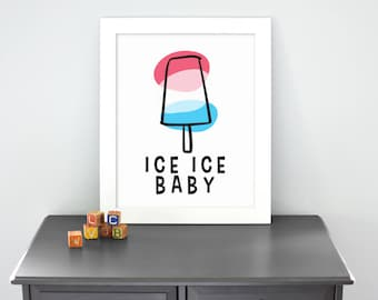 Popsicle - Illustrated Print