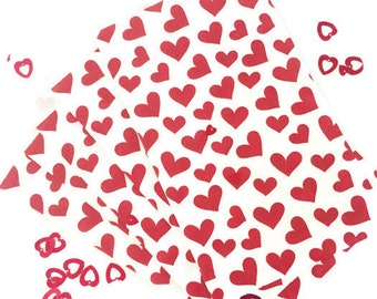 Red Heart Valentine/Love Paper Party Favor Bags