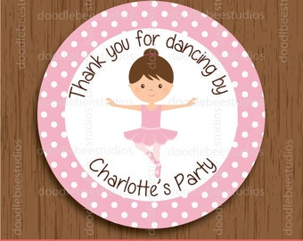 Personalized Ballerina Favor Tags, Ballerina Tags, Ballet Labels, Ballerina Printables, Ballet Stickers, Ballerina Labels, Dancer Favor Tags