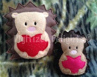 ITH Embroidery Machine Hedgehog Girl Boy Stuffie Softie Digital Instant Download PDF Tutorial