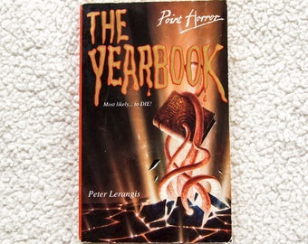 Vintage 90s Point Horror The Yearbook by Peter Lerangis Paperback Book
