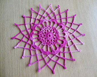 """""""Pascaline"""" crochet doily"""
