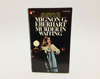 Vintage Mystery Book Murder in Waiting by Mignon G. Eberhart 1973 Paperback