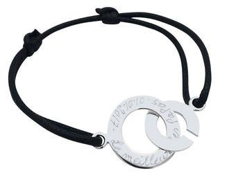 Silver handcuff bracelet