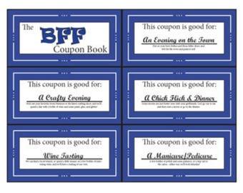 BFF | Bestie Coupon Book | Printable | Digital | Stocking Stuffer | Birthday | Gift | Friend | Best Friend