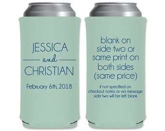 8.3 oz Slim Beer Can Coolers Beverage Insulator Personalized Wedding Favors | Classic (1B) | Energy Drinks/Michelob Ultra | READ DESCRIPTION
