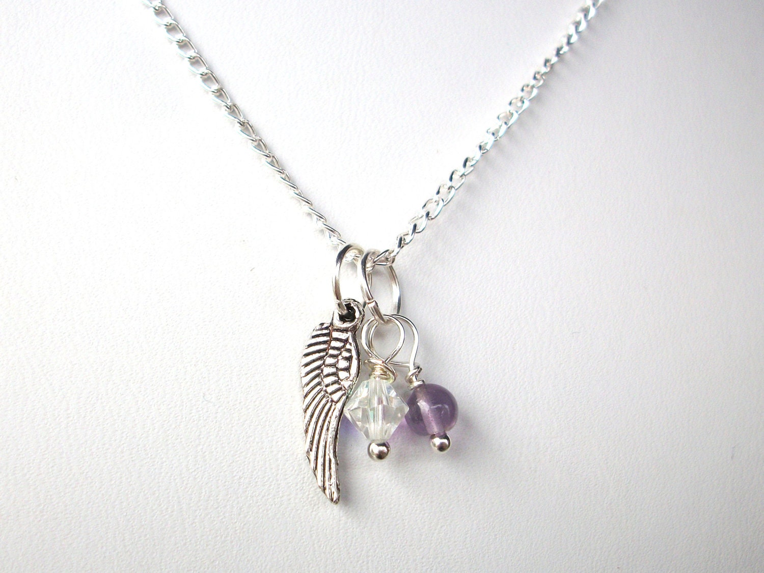 memorial sterling fullxfull personalized silver il miscarriage wing for gift her products necklace loss angel
