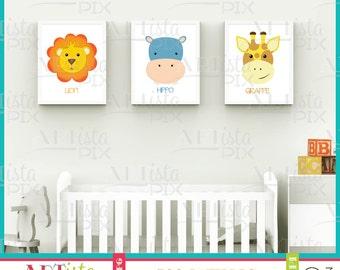 Nursery Wall Art, Zoo Animals Wall Art, Safari Wall Art, Nature Wall Art, Printable Wall Art, Instant Download, Safari Wall Art