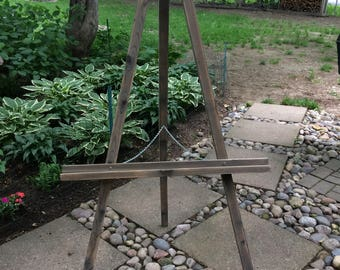 Aged Wood Finished Cedar Easel - Large