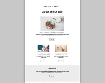 Promotional Email Newsletter, Responsive HTML email, Latest Blog posts, Professional Newsletter, Clean Template Design