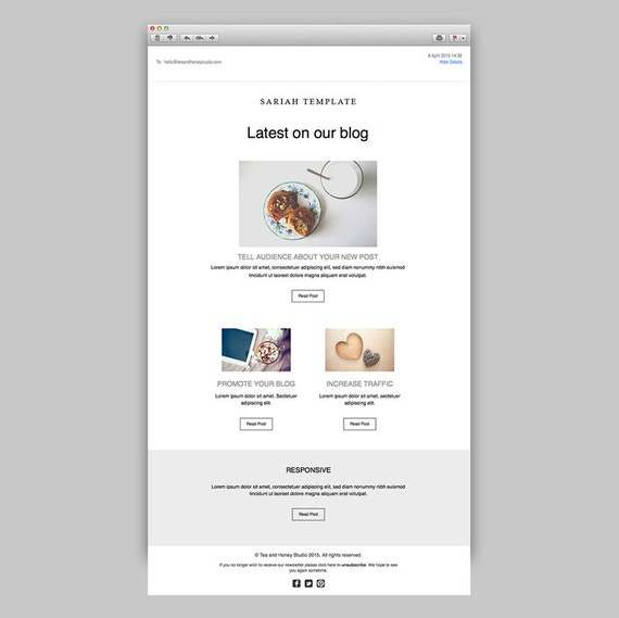Promotional Email Newsletter Responsive HTML Email Latest - Promotional email template