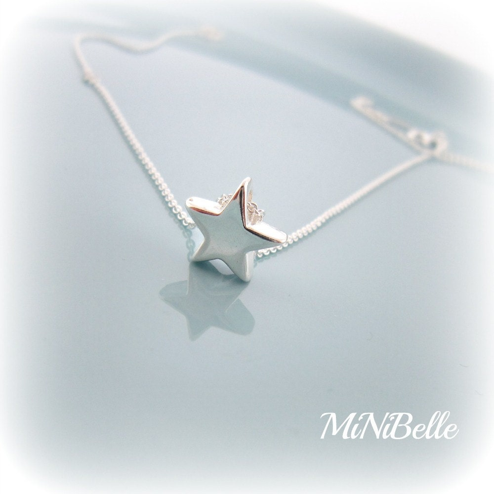 Star necklace simple star necklace sterling silver star zoom mozeypictures Image collections