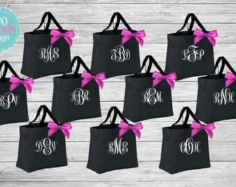Bridesmaid Totes Bridesmaid Gifts, Bridal Party Gift, Bridesmaid Tote Bag, Personalized Wedding Bag, Monogrammed Totes