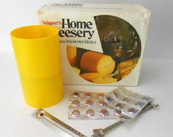 Vintage home cheesery Wagner's home cheesery in box vintage cheese making kit vintage kitchen gadget home made cheese