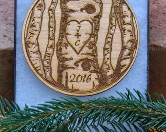 couples ornament, anniversary ornament, his and hers, first christmas