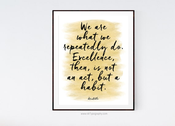 Aristotle Wall Art Inspirational Quote Motivational Print