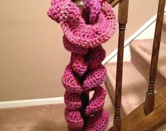 Ready to ship NOW!! Fuzzy ruffle scarf- phoenix azaela variegated color