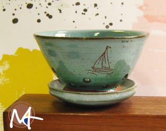 Small Ceramic Colander with Boat