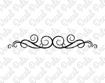 Large Flourish | #DP99-0004 | decorative cut design | FCM, SVG, PNG file formats | ***Not a physical item***