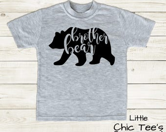 Brother Shirt, Big Brother Shirt, Brother Shirt with a Bear, Bear Brother Shirt, shirt for big brother, Brother Bear Shirt