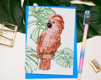 Tropical Cockatoo Greeting Card