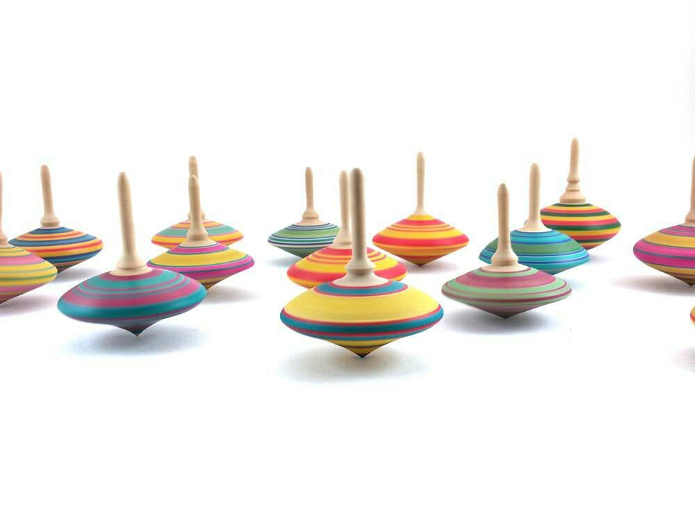 Japanese Toy Tops : Spinning top wooden tops wedding favors wood