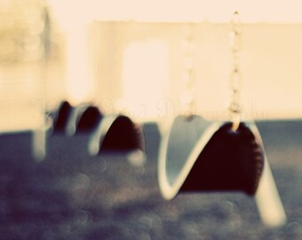 Playground Series: Swings on the Playground - Fine Art Photography Print - Artistic Home Decor Photo for Child's Bedroom