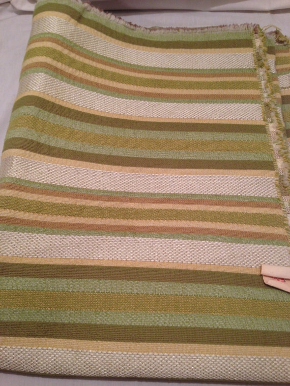 Green Striped Heavy Upholstry Fabric F11