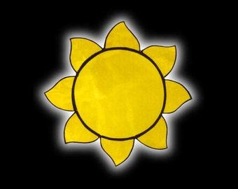 Stained Glass Sunburst Suncatcher