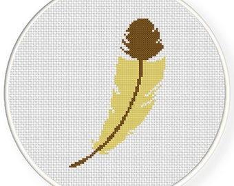 Feather PDF Cross Stitch Pattern - Instant Download - Modern Chart
