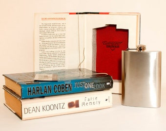 Flask Book Safe, Secret Book Safe, Hollow Book, Book Box, Drinking Gifts, Booze Gifts, Bookworm Gifts, Sue Grafton, Jackie Collins