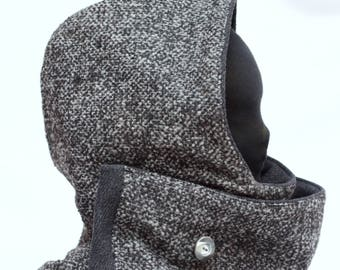 Hood e scarf, Hooded Scarf -with button-  Hooded Shawl - Hood Scarf - Snood Scarf - Neck warming - Scoodie - Gift for her - Gift for him,hat