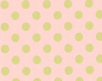 SALE - Michael Miller - Quarter Dot Pearlized in Blush