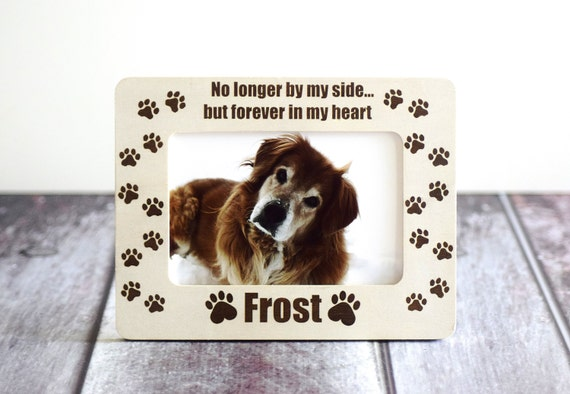 Forever In My Heart Pet Memorial Picture Frame Cat or Dog