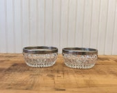 Vintage Glass bowls with ...
